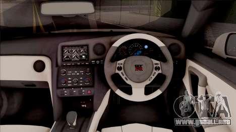Nissan GTR R35 2015 (SA Lights) para GTA San Andreas
