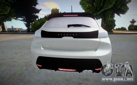 Peugeot 208 2020 (interior lowpoly) para GTA San Andreas