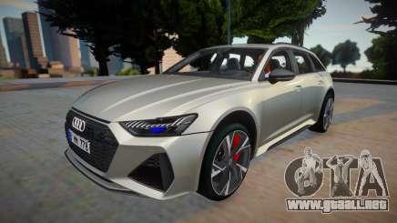 Audi RS6 2020 Silver Style para GTA San Andreas