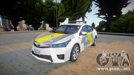 Toyota Corolla 2017 - CPRv PMESP para GTA San Andreas