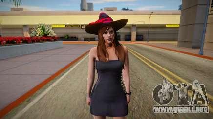 GTA Online Skin Ramdon Female Allian Dress Witch para GTA San Andreas