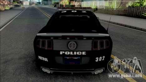 Ford Mustang Shelby GT500 Police para GTA San Andreas