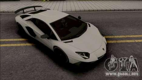 Lamborghini Aventador SV Coupe para GTA San Andreas
