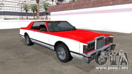 Virgo Continental Targa Versión 2 para GTA San Andreas