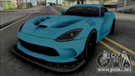 Dodge Viper ACR 2016 (SA Lights) para GTA San Andreas