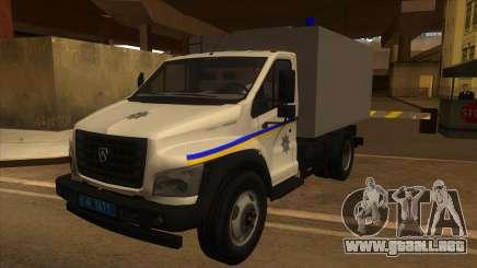 Gazon Next Autozac del Ministerio del Interior de Odessa para GTA San Andreas