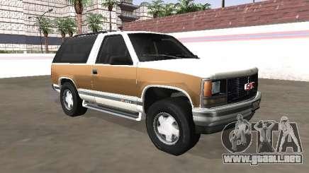 1994 GMC Yukon Blazer para GTA San Andreas