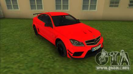 Mercedes-Benz C63 AMG Black Series 2012 para GTA Vice City