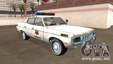 Sheriff del Condado de AMC Matador 1971 Hazzard para GTA San Andreas