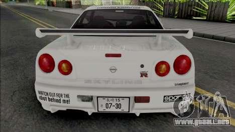 Nissan Skyline GT-R R34 1997 para GTA San Andreas