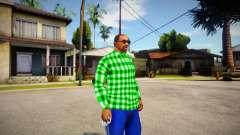 Green shirt para GTA San Andreas