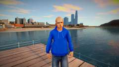 Beta Jimmy Hopkins - Blue Hoodie para GTA San Andreas