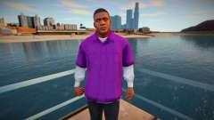 Franklin con una camisa morada para GTA San Andreas