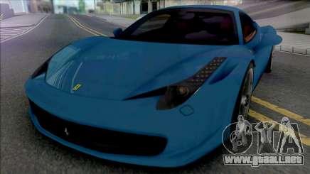 Ferrari 458 Italia [Fixed] para GTA San Andreas