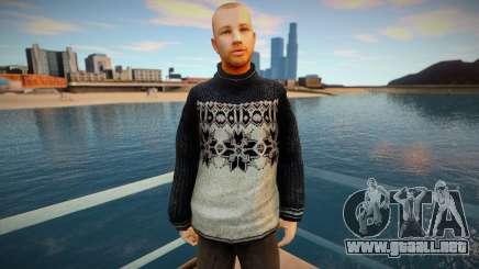 Hombre ruso con un suéter para GTA San Andreas