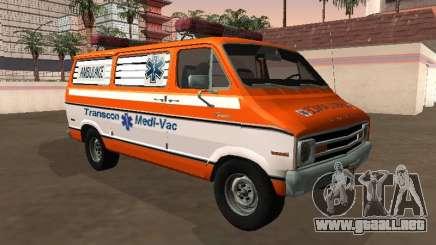 Dodge Tradesman B-200 1976 Ambulancia para GTA San Andreas