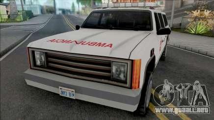 Rancher 90s Chilean Ambulance para GTA San Andreas