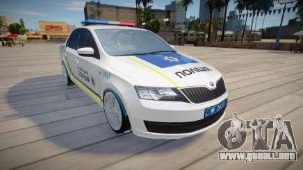 Skoda Rapid - Patrulla de la policía de Ucrania para GTA San Andreas