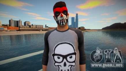 Personaje en maquillaje de GTA Online para GTA San Andreas