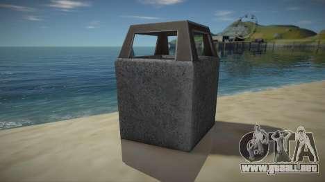 HD Trash Bin para GTA San Andreas