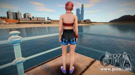 DOA Honoka Fashion Casual V2 Denins Shorts para GTA San Andreas