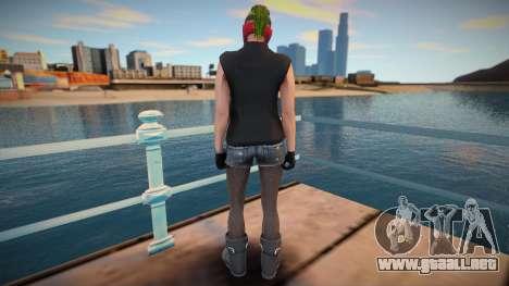 Biker girl 2 from GTA Online DLC: Bikers para GTA San Andreas