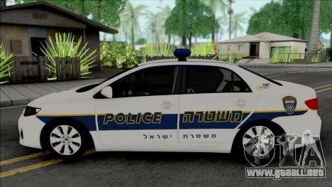 Toyota Corolla 2013 Israeli Police para GTA San Andreas
