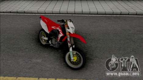 Honda CRF 150L Supermoto para GTA San Andreas