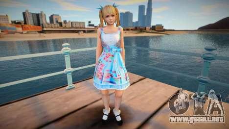 DoA5:LR Marie Rose - Blue Lolita para GTA San Andreas