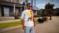 New T-Shirt - tshirtwhite para GTA San Andreas