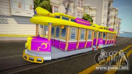 Mario Kart 8 Tram W para GTA San Andreas
