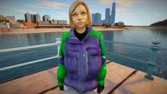 Chica rubia en una chaqueta para GTA San Andreas