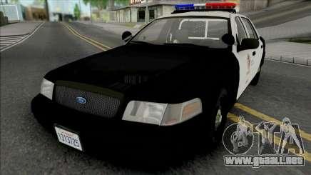 Ford Crown Victoria 2011 CVPI LAPD para GTA San Andreas