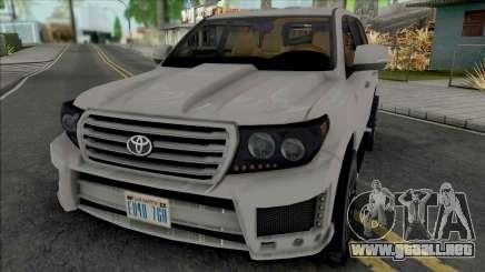 Toyota Land Cruiser 2015 Lowpoly para GTA San Andreas