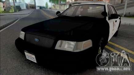 Ford Crown Victoria 2007 CVPI LAPD GND para GTA San Andreas