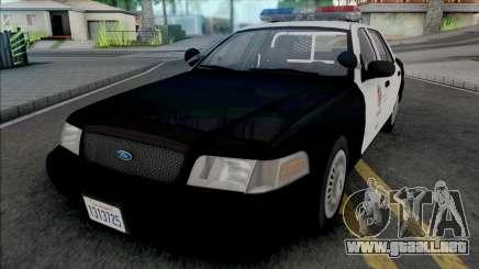 Ford Crown Victoria 2000 CVPI LAPD v2 para GTA San Andreas