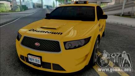 Vapid Torrence Taxi Downtown v2 para GTA San Andreas