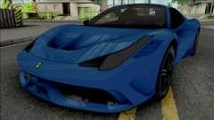 Ferrari 458 Speciale Aperta 2015 para GTA San Andreas