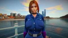 KOF Soldier Girl - Blue Brown Hair 3 para GTA San Andreas
