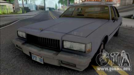 Chevrolet Caprice 1989 LAPD Unmarked para GTA San Andreas
