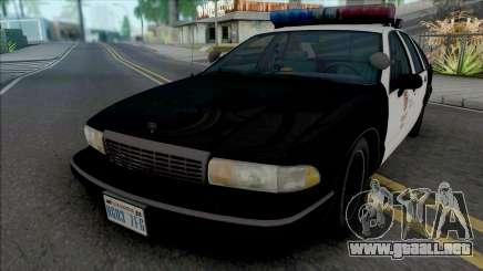 Chevrolet Caprice 1993 LAPD para GTA San Andreas