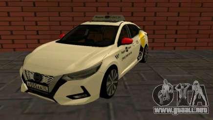 Nissan Sylphy Yandex Go Taxi para GTA San Andreas