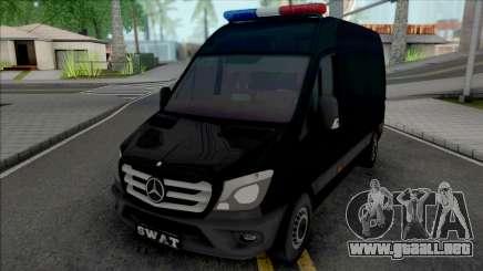 Mercedes-Benz Sprinter 2014 SWAT para GTA San Andreas