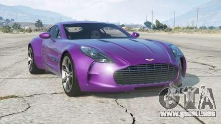 Aston Martin One-77 2010〡add-on para GTA 5
