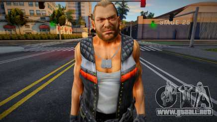 Dead Or Alive 5 - Bass Armstrong (Costume 1) 4 para GTA San Andreas