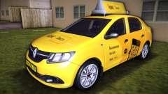Renault Logan 2015 Yandex Taxi para GTA Vice City