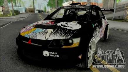 Mitsubishi Lancer Evo IX Itasha Izumi Miyako para GTA San Andreas