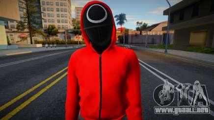 Male Random Guard N1 Squid Game para GTA San Andreas