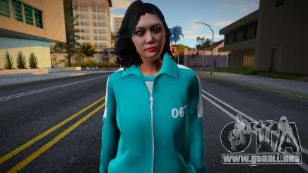 Female Asian Tracksuit 067 Squid Game para GTA San Andreas